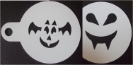 halloween stencils for coffee or cupcakes - bat and dracula