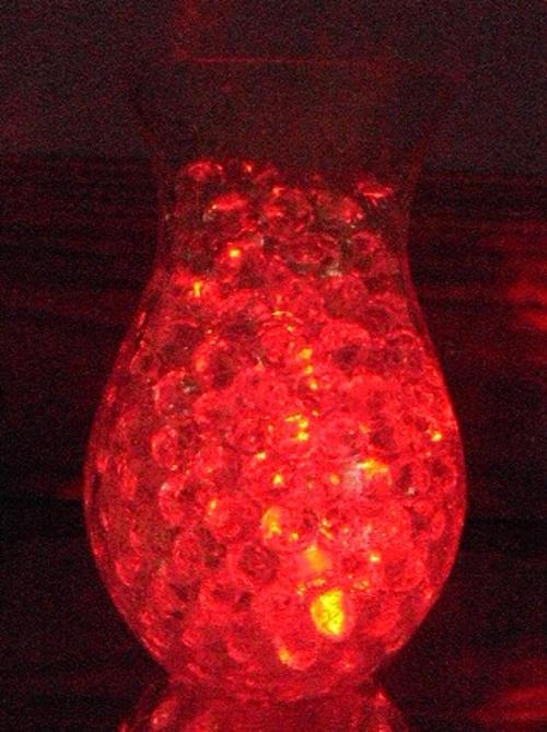 red submersible led tealight